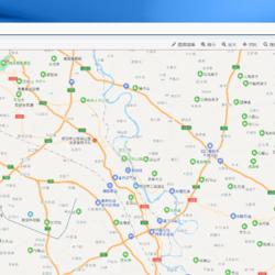 蓝色的城市路灯监控管理,智能路灯系统后台管理